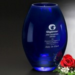 Cobalt Barrel Vase 10-1/2 in.