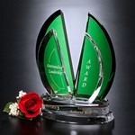 Flight Emerald and Optical Crystal Award 9in