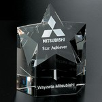 Mega Star Optical Crystal Award  5 in.