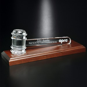 Crystal Gavel on Royal Finish Base 11-1/2 in. W