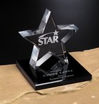 Tapered Star Award on Base 6 in.
