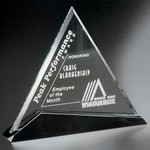 Cavalcade Optical Crystal Triangle 8 in.