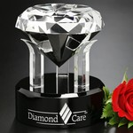 Radiant Diamond Optical Crystal Award 5 in.