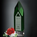 Monolith Green and Optical Crystal Award 9 in.
