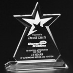 Guardian Star Award 10-1/2 in.  Optical Crystal