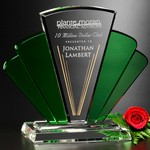 Phantasia Award 10 in.  Green and Optical Crystal