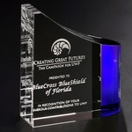 Faceted Wave Optical Crystal Award 6 in.