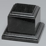 Black Marble Tiered Base 3 in.