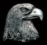 Eagle Head Pewter Accent Addition to an Award