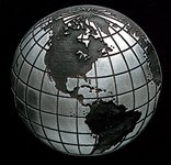 Globe Pewter Accent Addition to an Award