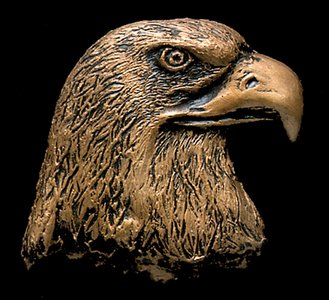 Eagle Head Bronze Accent Addition to an Award