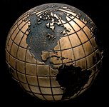 Globe Bronze Accent Addition to an Award