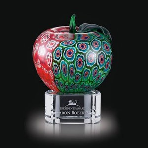 Arcadia Apple on Clear Base - 5.5 in. High