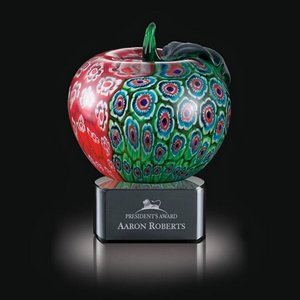 Arcadia Apple on Black Base - 5.5 in. High