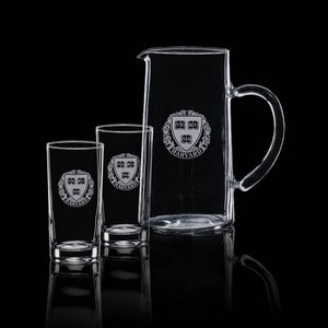 Aristocrat Pitcher and 2 Hiball Glasses
