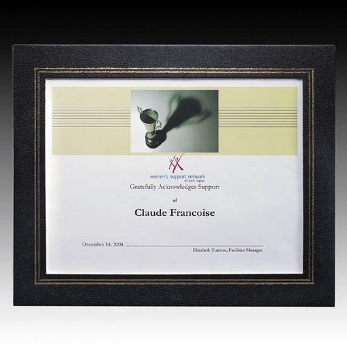 Cornell Certificate Holder - 8.5 in. x 11 in. Black