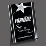 Pickering Acrylic Star Award - 5 in.x7 in. Silver
