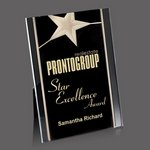 Pickering Acrylic Star Award - 7 in.x9 in. Gold