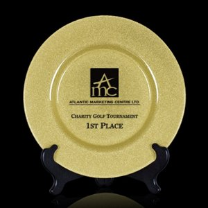 Granby Award Plate   - 11 in. Gold