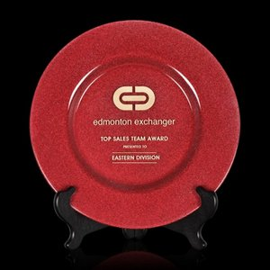 Granby Award Plate  - 13 in. Red
