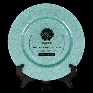 Granby Award Plate  - 13 in. Teal