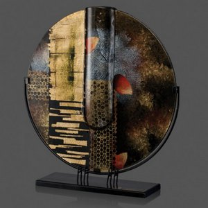 Oxford Art Glass Award- Contoured Round 20 Diam