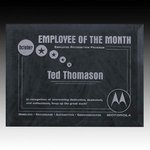 Dunsmore Award Plaque - 9 in.x12 in. Gray Custom Plaques and Frames, employee award,recognition award,trophy award,corporate awards,crystal awards,recognition reward,crystal award,award plaque,recognition rewards