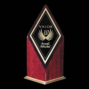Elmhurst Award - Rosewood/Gold 7 in.