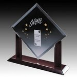 Carradine Award - Starfire Crystal on Piano Finish Rosewood Base 14in