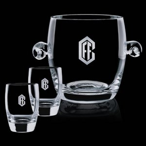Belfast Ice Bucket and 2 On-the-Rocks Glasses
