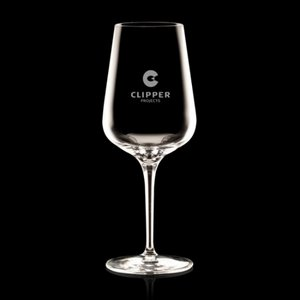 Madras Wine Glasses Engraved - 12oz Crystalline