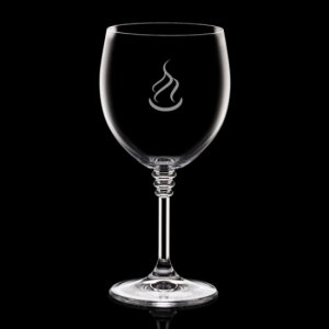 Fiore Wine Glasses Engraved - 8oz Crystalline