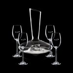 Henkel Carafe and 4 Wine Glasses Engraved