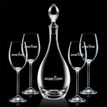 Malvern Decanter and 4 Wine Glasses Engraved