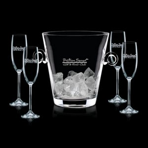 Italia Champagne Bucket and 4 Flutes