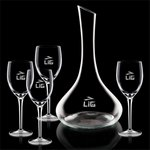 Celina Carafe and 4 Wine Glasses Engraved