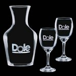 Summit Carafe and 2 Wine Glasses Engraved