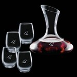 Edenvale Carafe and 4 Stanford Wine Glasses Engraved