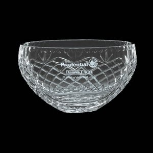 Medallion Crystal Bowl- 6.5 in.