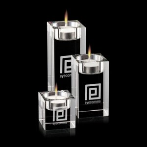 Perth Candleholders - Optical Crystal (Set of 3)