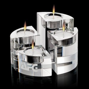 Saks Candleholders - Optical Crystal Set of 4