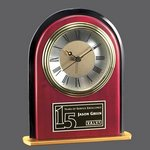 Minto Clock - Rosewood/Black/Gold 6.5 in.