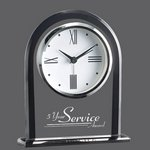 Whitby Clock - Black/Clear 6.25 in.