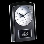 Mallory Clock - Black/Clear 5.5 in.