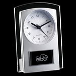 Mallory Clock - Silver/Clear 5.5 in.
