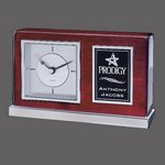 Lincoln Clock - Rosewood/Chrome