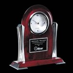 Bosworth Clock - Rosewood/Chrome 9 in.