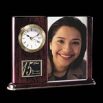 Webster Clock/Frame - Rosewood