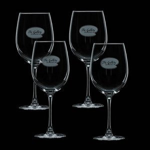 Connoisseur 16oz Wine Glasses Engraved (Set of 4)