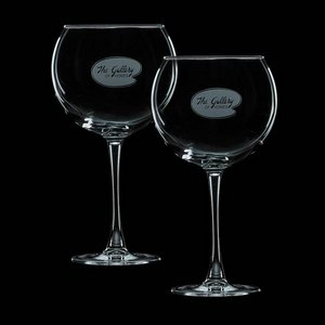 Connoisseur 19oz Balloon Wine Glasses Engraved (Set of 2)